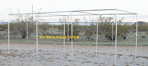 Golden Valley Tools & Tarps 30' BASEBALL/SOFTBALL STRAIGHT LEG BATTING CAGE 1'' FITTINGS ONLY by Golden Valley Tools & Tarps