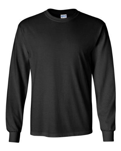Gildan Adult L/S T-Shirt in Black - Large ()