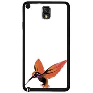 Orange Hummingbird on White Background Hard Snap on Phone Case (Note 3 III)