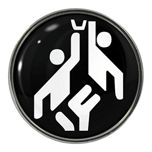 Olympic Sign Basketball Metal Pin - Button Olympic Pin