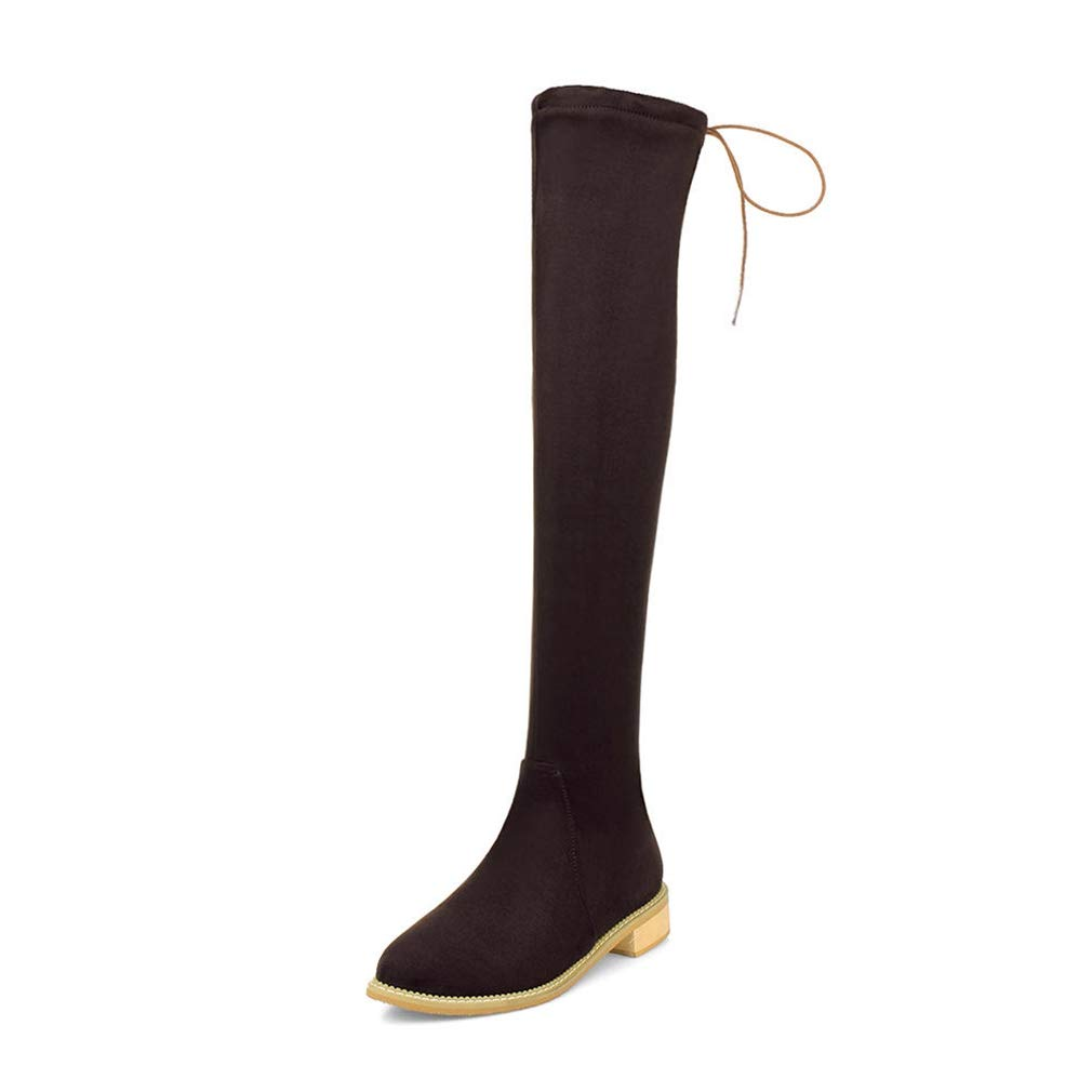 T-JULY New Womens Large Size Comfortable Shoes Female Fashion Over The Knee Boots Stretch Cloth Boots