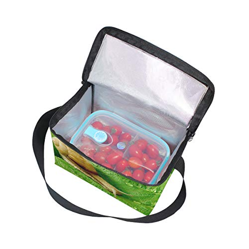 Bandoulière nique déjeuner pique à feuilles Escargot vertes lunch sur les et Cooler pour Sac d'eau gouttes à Boîte 6Axw7fO5Oq