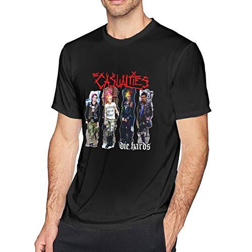 - Kangtians Men's The -Casualties Shirt Cotton Tee Black