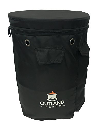 Outland Firebowl UV and Weather Resistant 740 Propane Gas Tank Cover with Stable Tabletop Feature, Fits Standard 20 lb Tank Cylinder, Ventilated with Storage - Propane Cover Chrome