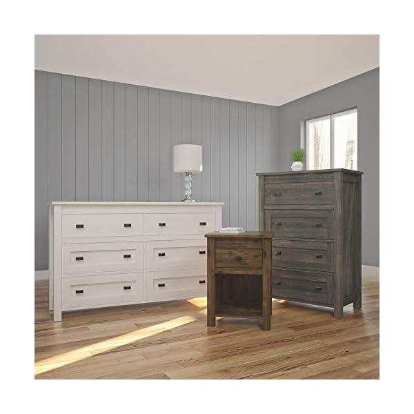 Ameriwood Home Farmington, 4 Drawer Dresser, Weathered Oak