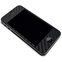 For Apple iPhone 4 4S Model A1332 A1349 A1387 Carbon Fiber Black Protector Decal Skin Body Wrap 6pcs