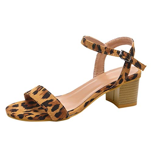 〓Londony〓 Womens Cross Toe Double Buckle Strap Platform Sandals Espadrille Wedge Ankle Strap Studded Open Toe Sandals Brown