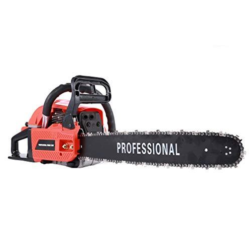 Holarose 62CC Gas Chainsaw 20″ 2 Stroke Double Spring Automatic Chain Oiler Great Handbar Chainsaw (Orange&Black) (red)