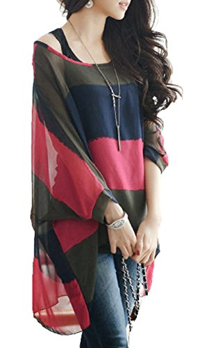 iNewbetter Womens Floral Batwing Sleeve product image