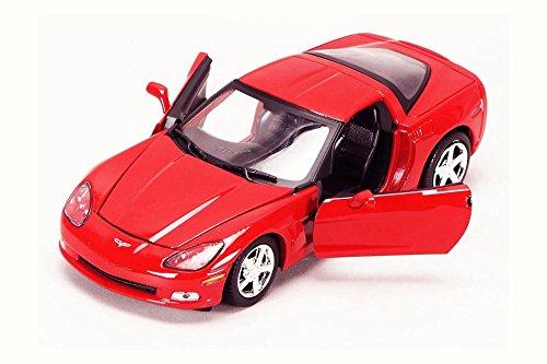 StarSun Depot 2005 Chevrolet Corvette C6 Coupe Red 1/24 Model Car by Motormax Chevrolet Corvette C6 Coupe