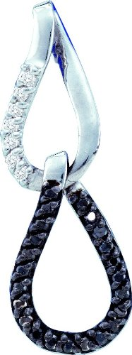 Or blanc 14carats Diamant 0,14DWT Fashion Pendentif