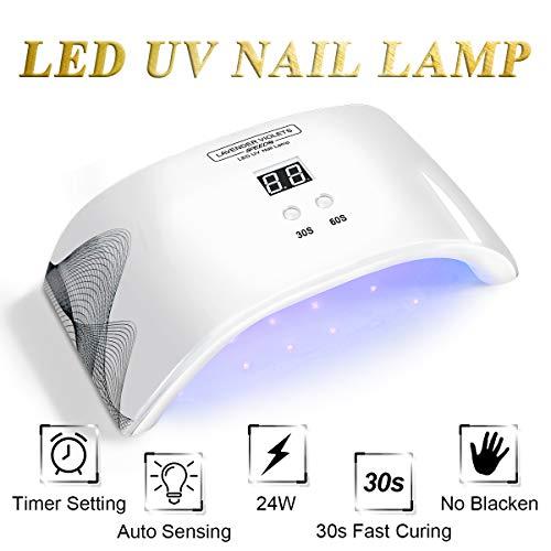 LED UV Nail Lamp Light with Timer Auto-sensor J724