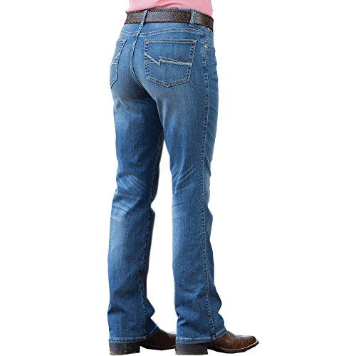 Wrangler Women's Aura Instantly Slimming Jeans Boot Cut Indigo 10 Tal (Long Wrangler Jeans)