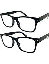 Paquete de 2 Bulk Multi Focus 3 Potencia Progressive anteojos de lectura – sin línea