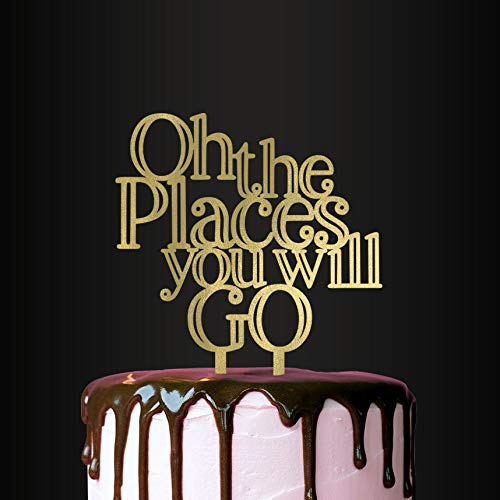 Oh The Places You Will Go, Cake Topper, Baby Shower Decor -