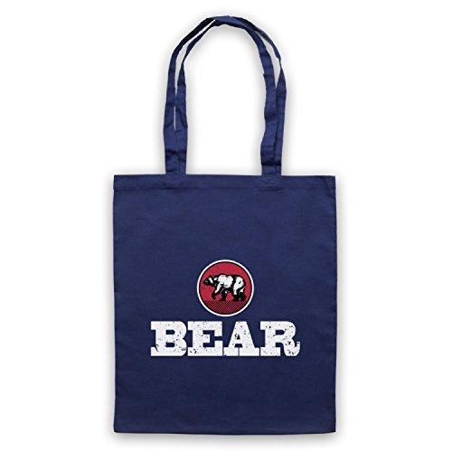 Clothing Humour My Bear d'emballage Art Bleu Gay Icon Sac Fonce amp; qfwtxUB