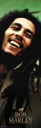 Beyond The Wall Bob Marley Green Reggae Rastafarian Music Legend Icon Poster Print (12x36 UNFRAMED Poster)