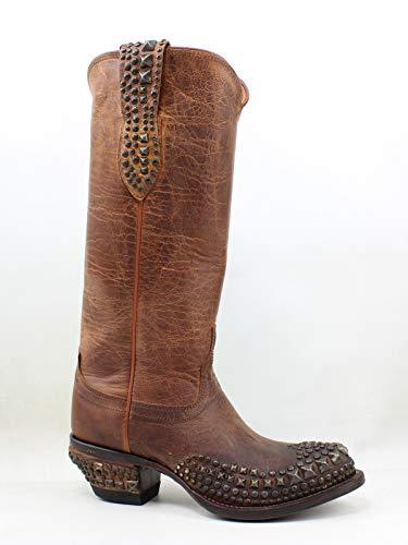 (Lucchese Women's Mad Dog Stud Wingtip Western Boot, Peanut Brittle, 5.5 M US)