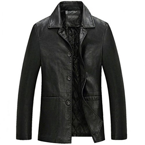 3 Button Leather Jacket - 4