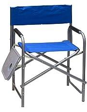 كرسي للرحلات والتخييم مع طاولة جانبية، لون ازرق