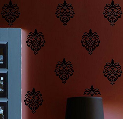 HUANYI Damask Flourish 8 Pack Vinyl Wall Decal Graphics Art - Transfers Flourish