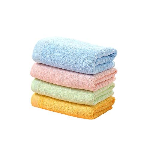 Zhenxinmei 4 Pack Natural Bamboo Fiber Children Towels 10