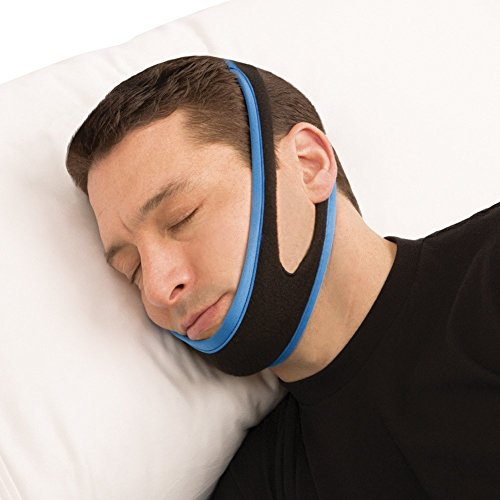 SleepProTM Anti Snoring Chin Strap Device -Sleep Aid that Stops Snoring & Ease Breathing - Effective Snore Relief - Snore Stopper Jaw Support - Natural, Comfortable & Adjustable