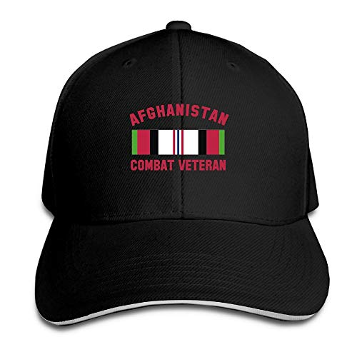 Unisex Adjustable Sandwich Hats Solid Colors Baseball Cap Snapback Hat Afghanistan Combat Veteran by Gnvbg Hat