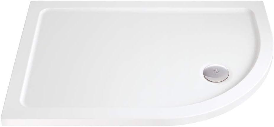 Mampara de ducha bandejas - diestro - 900 mm hasta 1200 mm de ancho (incluye 90 mm de agua), 900mm x 760mm: Amazon.es: Hogar