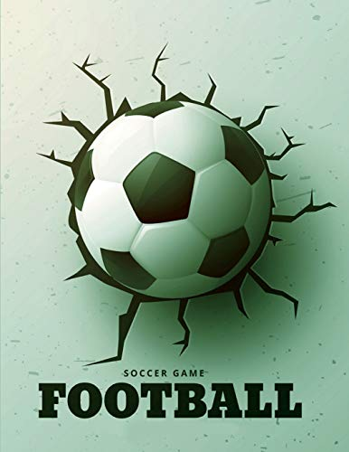 Soccer Game Football Watercolor Football Field Journal Book Ruled Lined Page For Kid Teen Boy Women Men Great For Writing Sport Diary School College ... Paperback) (Football Notebook) (Volume 4) [Kenjiro] (Tapa Blanda)