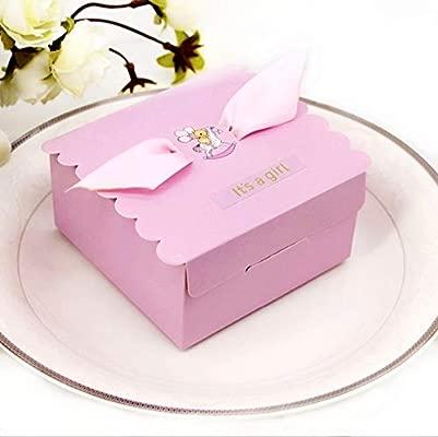 JZK 50 x rosado bebita fiesta de bienvenida al bebé cajas favor Para fiesta de bienvenida al bebé bautismo Sagrada comunión, fiesta cumpleaños niña ...