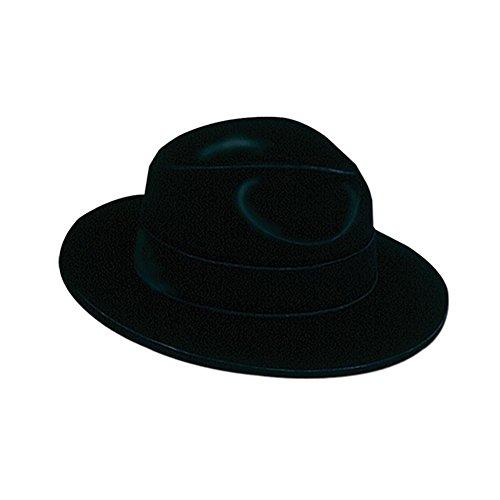 Beistle 66820 Black Velour Fedora