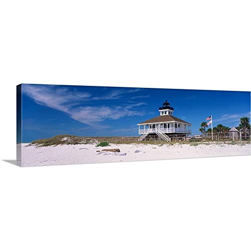 Port Boca Grande Lighthouse, Gasparilla Island State Park, Florida Canvas Wall Art Print, 60