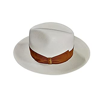 BORSALINO chapeau homme 140340 Panama Fin 100% Paille MADE IN ITALY -  Blanc 38a854d1f4e7