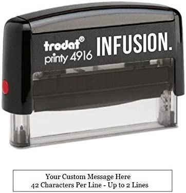 Infusion Custom Self Inking Rubber Stamp