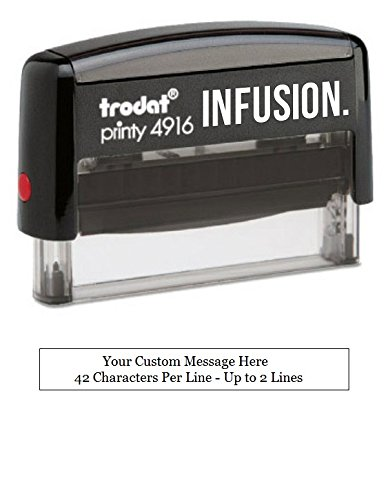 - Infusion Custom Self-Inking Rubber Stamp - Long Stamp - (3/8