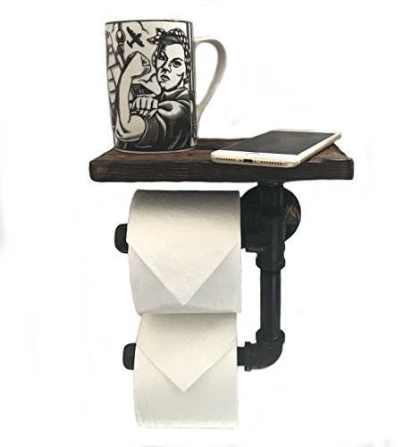 Modern Country Toilet Paper Holder - PH Toilet Paper Holder Shelf for Mobile Phone Storage in Bathroom with 5 Color Options