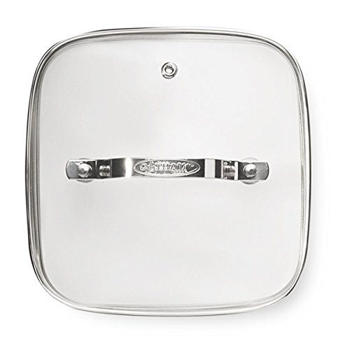 Gotham Steel 2009 Clear Tempered Glass Vented Square Frying pan Lid 12.5