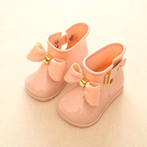 Yvonnelee Baby Toddler Jelly Shoes Girl Shoes Children Cute Bow Rain Boot