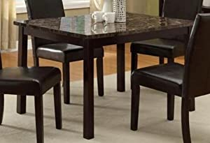 Superb Pompei Dining Table With Faux Marble Top