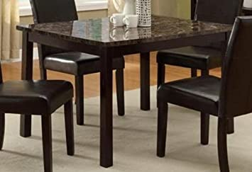 Wonderful Pompei Dining Table With Faux Marble Top