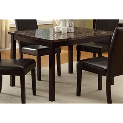 Marble kitchen table amazon pompei dining table with faux marble top workwithnaturefo