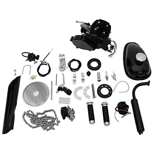 Ama-store 80cc Motorized Bicycle Bike 2 Stroke Gas Motor Engine Kit | Complete Petrol Cycle Motor Set