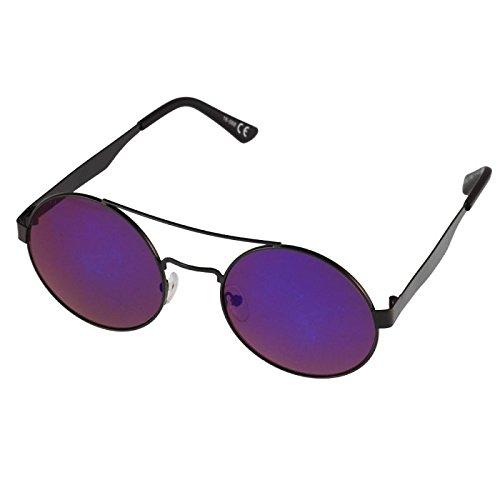 Sonnenbrille Round Glasses 400UV Doppelsteg mit Abstand Metallgestell braun TbX4B