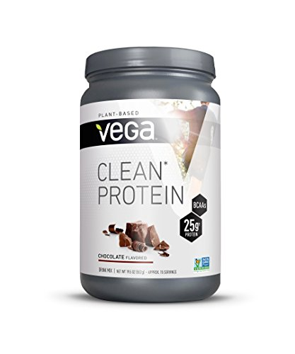 Vega Clean Protein Powder Chocolate (15 Servings, 19.5oz) - BCAAs, Vegan, Non Dairy, Gluten Free, Non ()