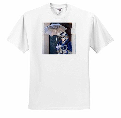 Danita Delimont   Burano   Masked Woman At Carnival Time  Burano  Italy   T Shirts   Adult T Shirt Large  Ts 249188 3