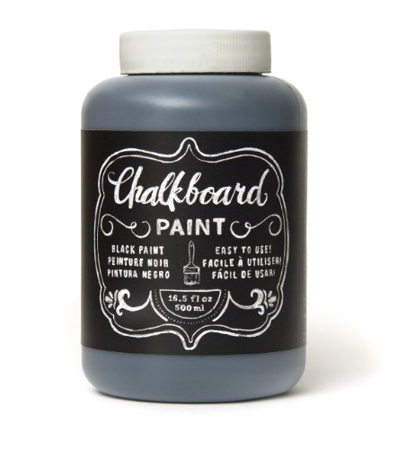 American Crafts Chalkboard Paint: Black, 16.5 oz