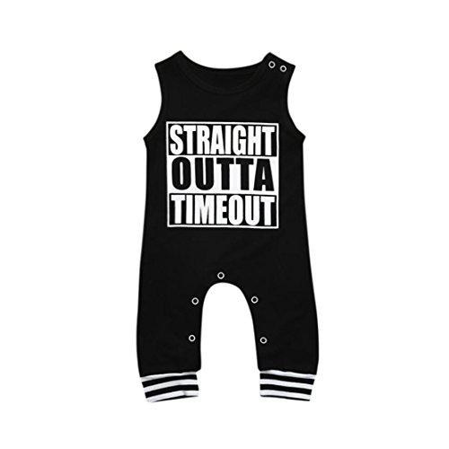 DORIC Baby Girls Boys Infant Letter Print Clothes Jumpsuit Rompers