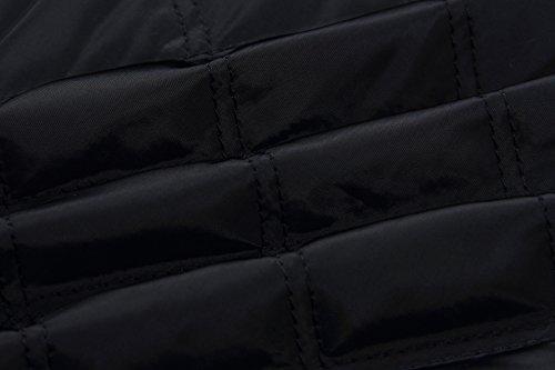 Caldo Cappotto Inverno Autunno Casual Lunga Nero E Giacca Elegante Giacche Zip Hippie Donna Piumino Giubbino Baseball Con Fashion Glamorous Comode Corto Semplice Manica Piumini wqSFFBZ