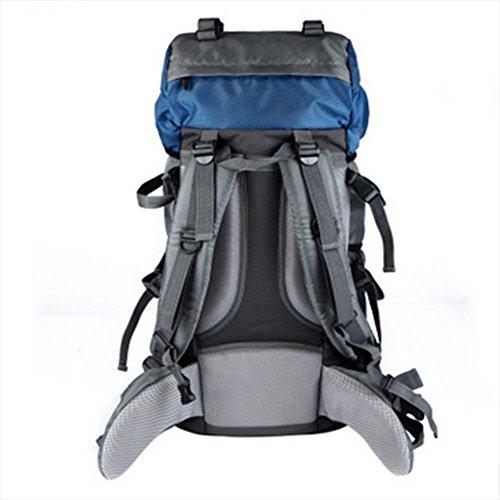 Zaino, 60L borsa sportiva ad alta capacità, impermeabile sacchetto di nylon di alpinismo, trekking zaino da viaggio campeggio
